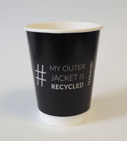 Doppelwand Coffee to go Becher Smooth 300ml (recycled outer jacket)