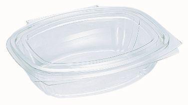 rPET Verpackungsschale mit Deckel 750 ml, transparent