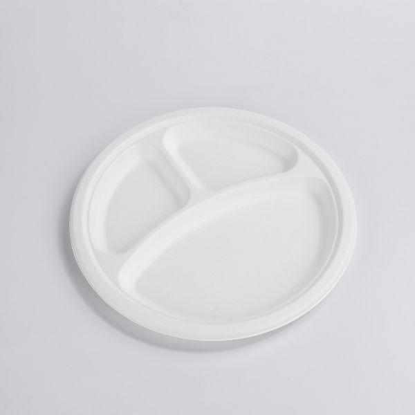 Fiber Teller 3-geteilt 23 cm