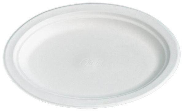 Bio-Teller oval 26 x 19 cm CHINET weiß, Bio-Geschirr