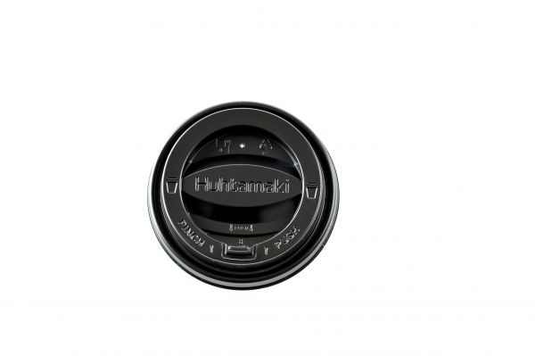 Coffee-to-go Tear tab Deckel schwarz ø 90 mm