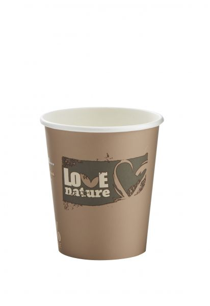 Bio Kaffeebecher Love Nature 200 ml, Pappbecher