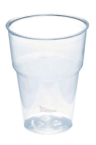 Bio-Becher aus PLA 400 ml klar, Bio-Geschirr