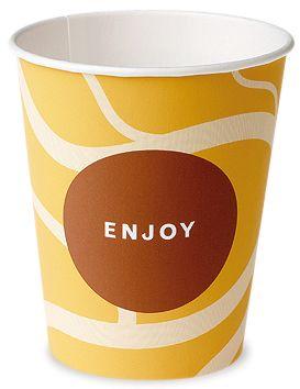 Premium Pappbecher Kaffee 150 ml Enjoy Automatenbecher