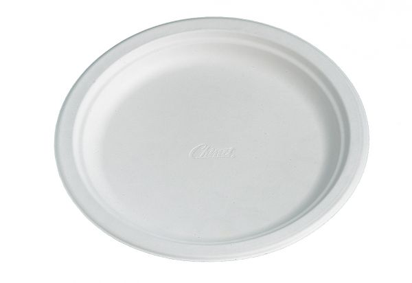 Bio-Teller 24 cm CHINET weiß, Bio-Geschirr