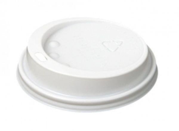 Coffee To Go Deckel weiß für Kaffeebecher Ø 85 mm mit Trinkloch