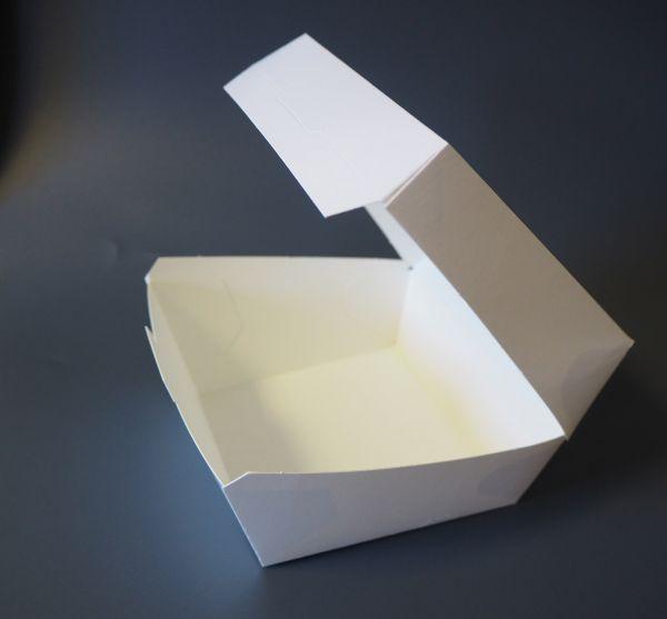 Hamburger Box 900 ml, weiß