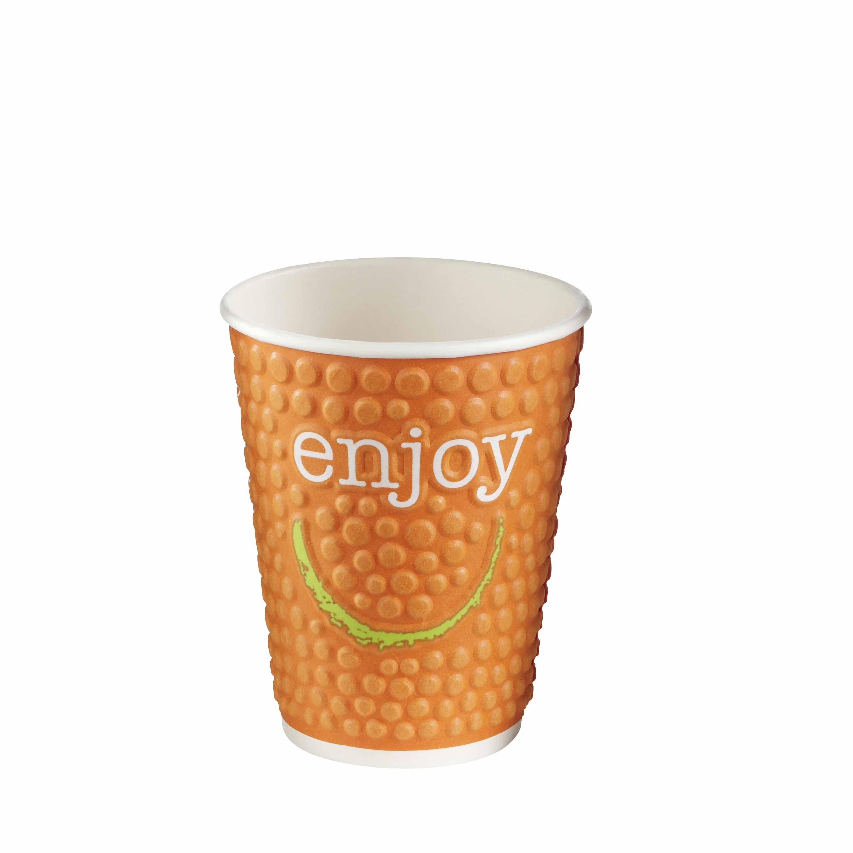 enjoy bubble coffee to go becher 400ml pappbecher hartpapier kaffeebecher to go. Black Bedroom Furniture Sets. Home Design Ideas