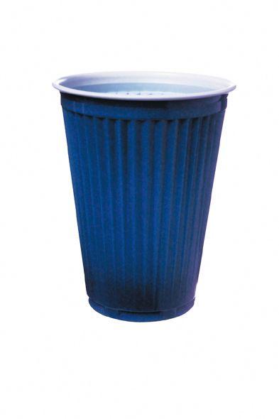 Thermo-Automatenbecher 180 ml, blau-weiß