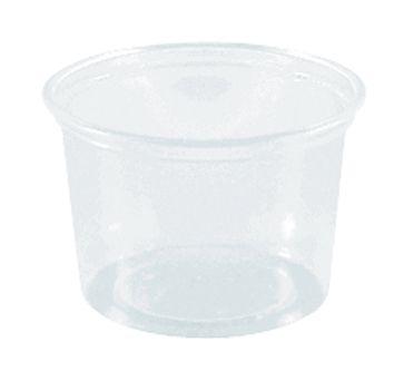 Verpackungsbecher rund 100 ml, transparent