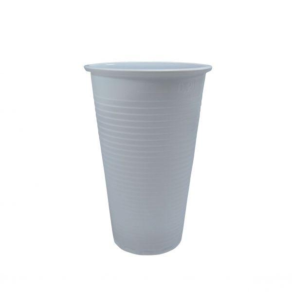 Trinkbecher, weiß, PP, 200 ml