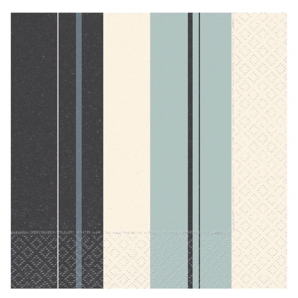 Servietten Grigio/Nero, schwarz-grau, 40 x 40 cm - AUSVERKAUF (so lange der Vorrat reicht)