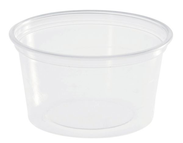 Verpackungsbecher rund 80 ml. transparent