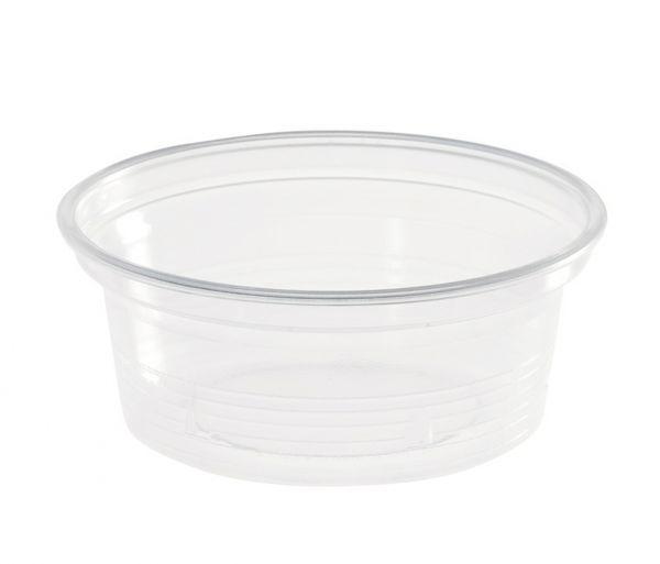 Verpackungsbecher rund 50 ml, transparent