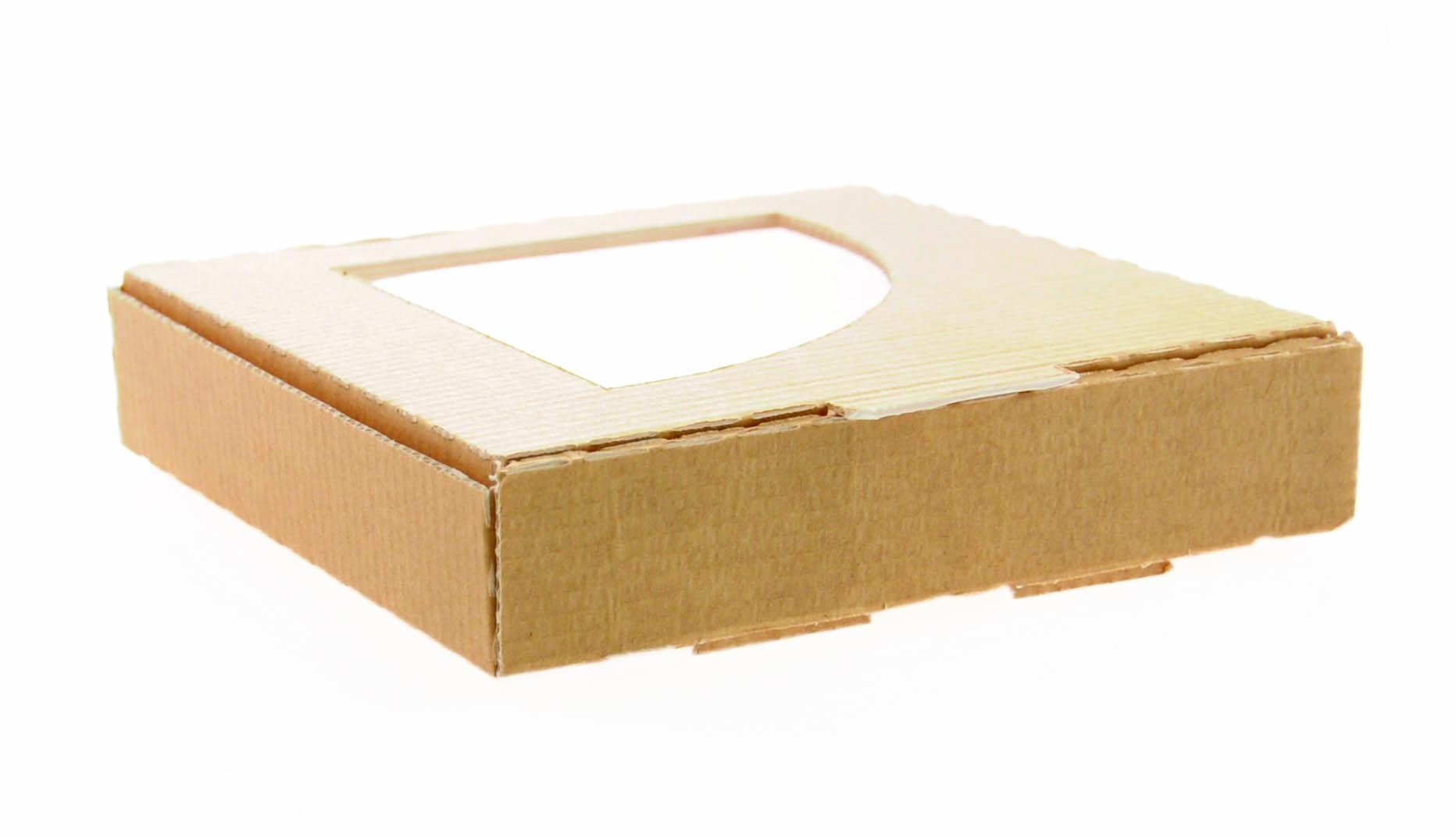 pizza box f r eine viertel pizza mit fenster g nstig kaufen. Black Bedroom Furniture Sets. Home Design Ideas
