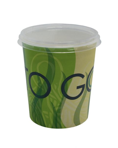 Food to Go Becher + klarer Deckel rund, 400ml