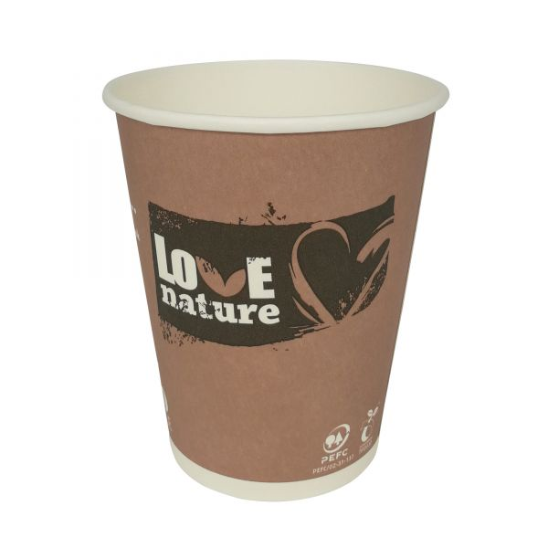 Coffee To Go Pappbecher 300 ml Love Nature