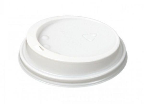 Coffee To Go Deckel für Kaffeebecher ø 90 mm weiß mit Trinkloch
