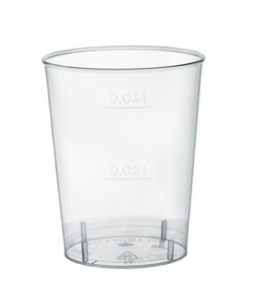 Schnapsbecher transparent. Schnapsglas 20/40 ml