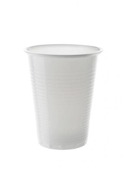 Trinkbecher, weiß, PP, 180 ml