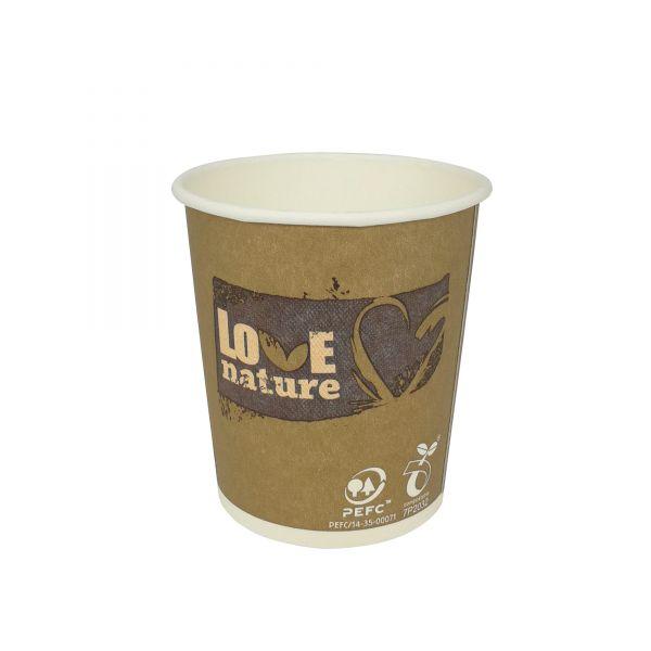 Papier Kaffeebecher Love Nature 100 ml
