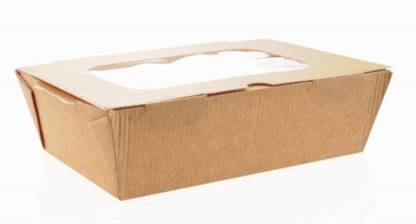 Food to go Box mit Fenster, groß