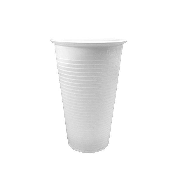 Trinkbecher. weiß. PP. 200 ml