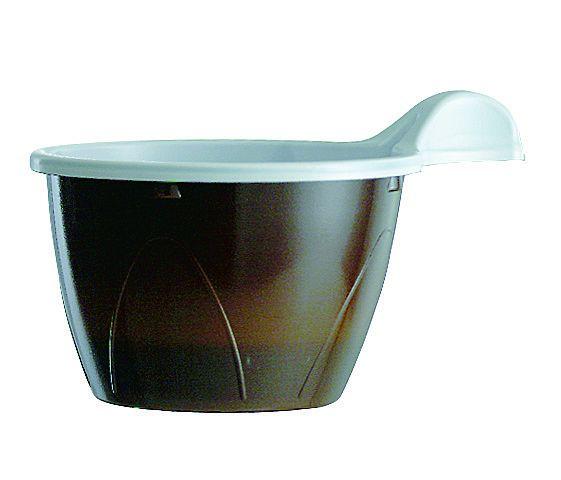 Espressobecher 100ml braun-weiß