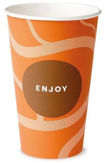 Premium Pappbecher Kaffee 300 ml Enjoy, Automatenbecher