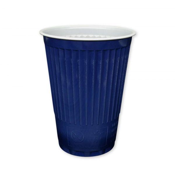 Thermo-Automatenbecher 180 ml blau-weiß