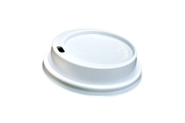 Vending Deckel weiß für Kaffeebecher Ø 80 mm mit Trinkloch