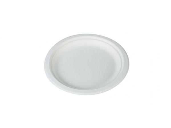 Teller rund 15cm, weiß, aus Zuckerrohr