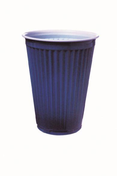 Thermo Automatenbecher 150ml blau-weiß