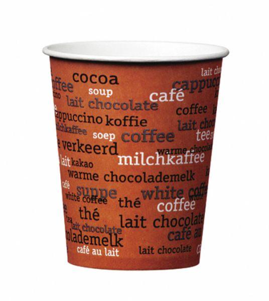 Pappbecher Kaffee Rainbow 150 ml, Automatenbecher