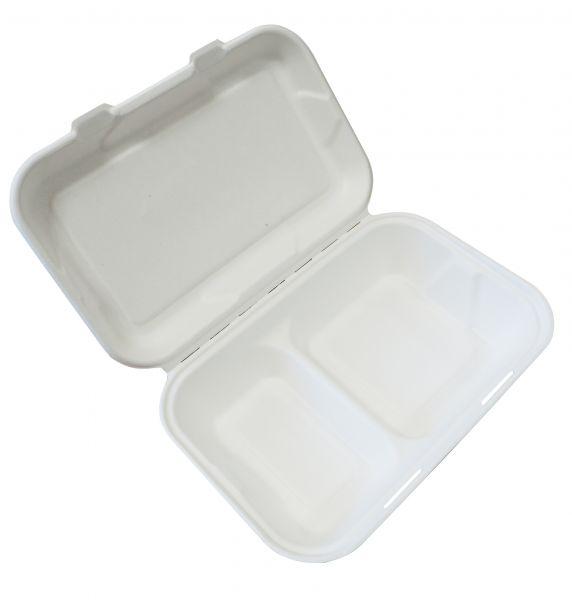 Fiber Menü Box 2-geteilt 22 x 15 cm