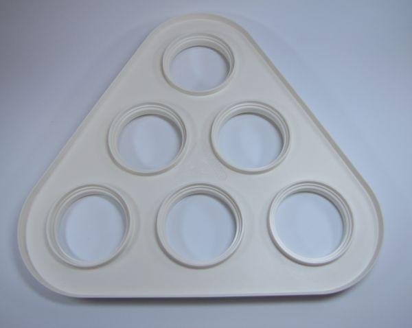 Tragetablett weiß für 6 Becher