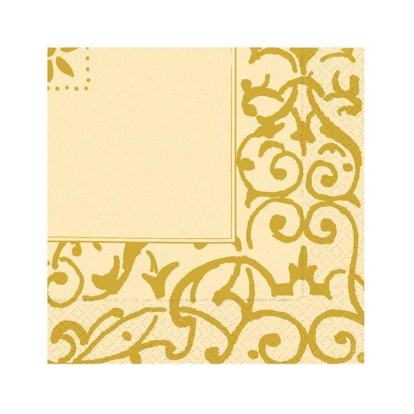 Servietten mit Goldmuster, 33 x 33 cm - AUSVERKAUF (so lange der Vorrat reicht)